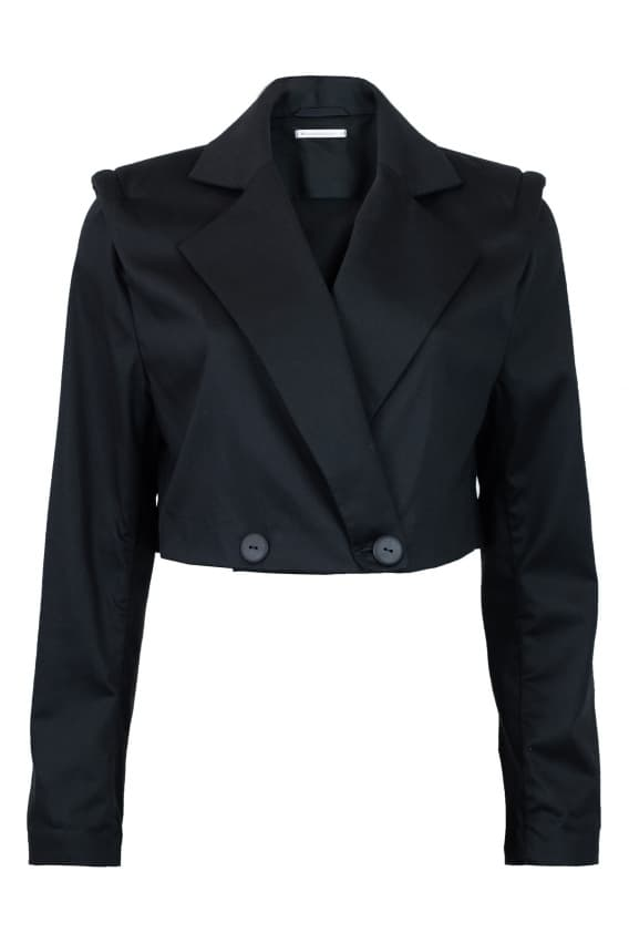 Cropped blazer black