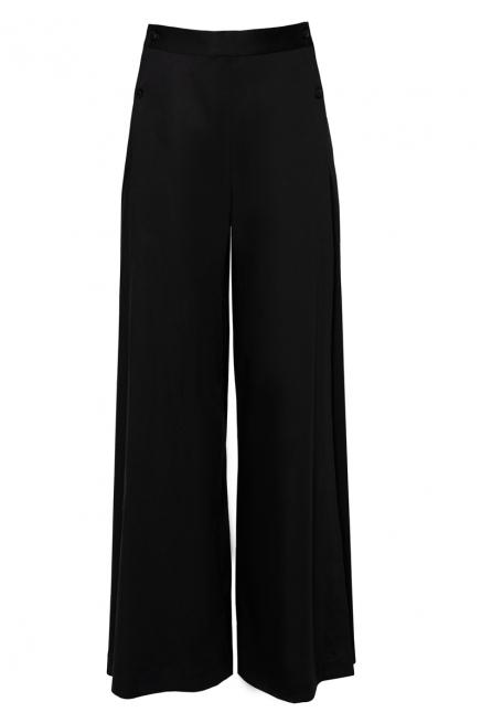 Maxi flared trousers