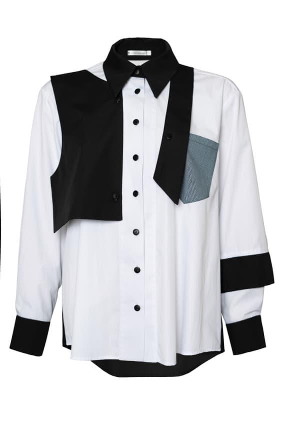 Garryal black-white shirt