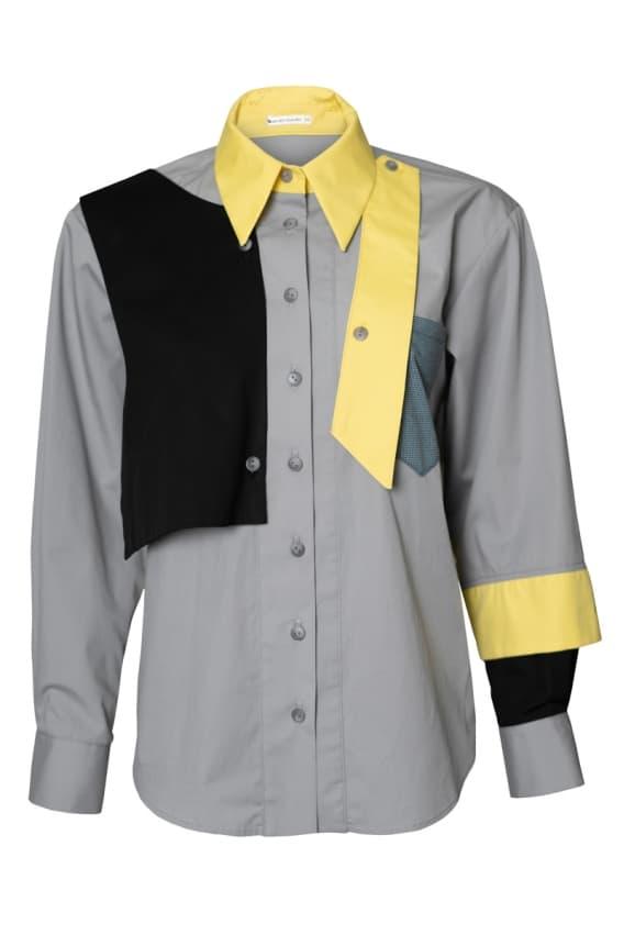 Garryal gray-yellow shirt