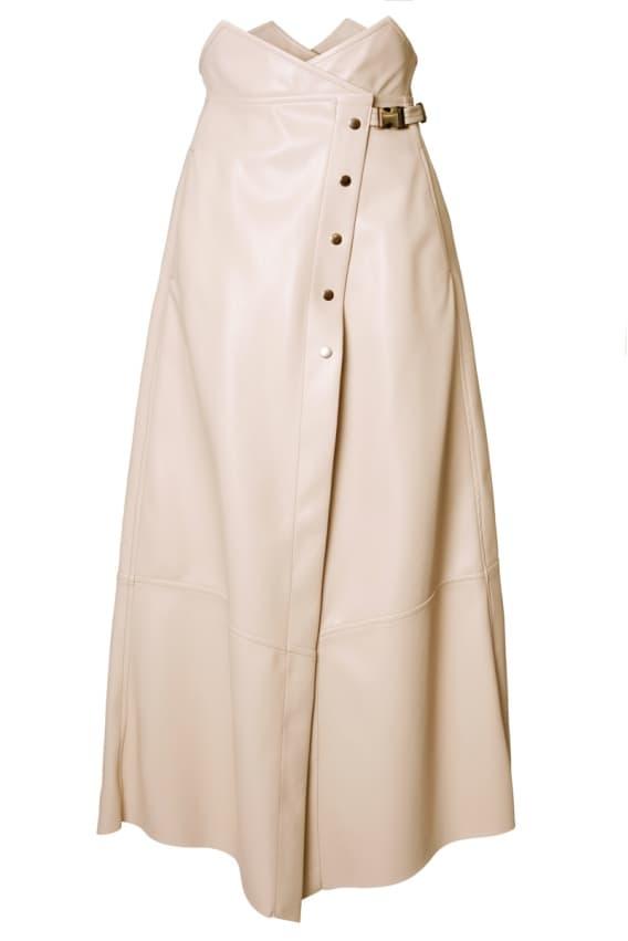 Wrap ecoleather skirt