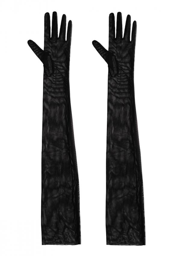 Рукавички довгі з сітки