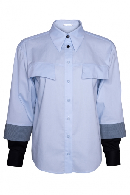 Semi-fitted shirt with double cuff Buxale