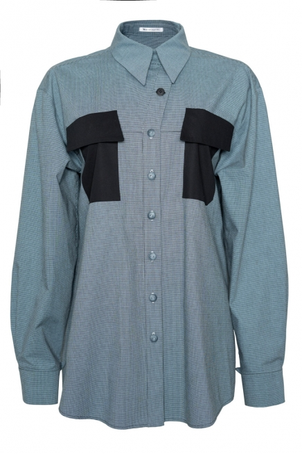 Loose-fit plaid shirt Gentiana